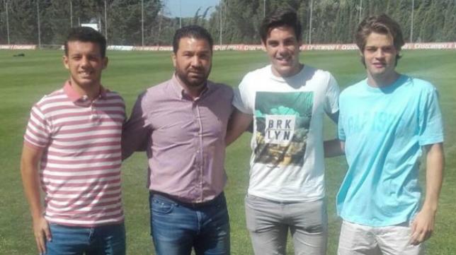 David León (i) no continuará en el Cádiz CF B. Foto: Cádiz CF.