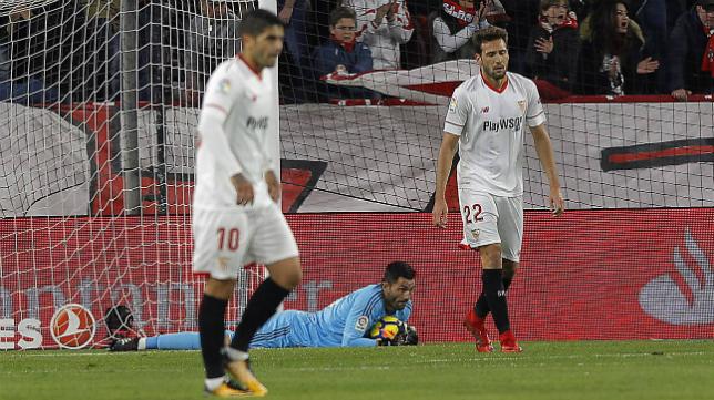El Sevilla FC salió muy dolido del derbi.
