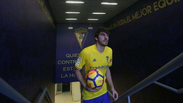 Eugeni Valderrama, centrocampista del Cádiz CF.