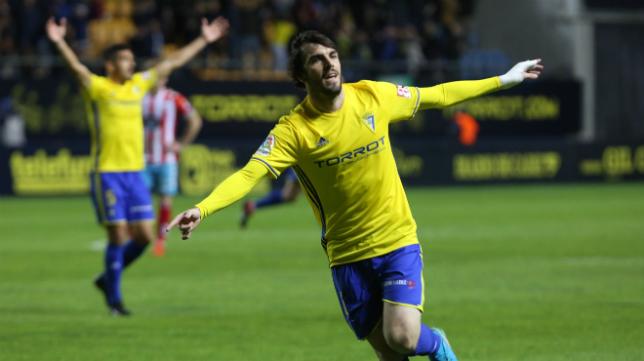 Eugeni le marcó un gol espectacular al Lugo.