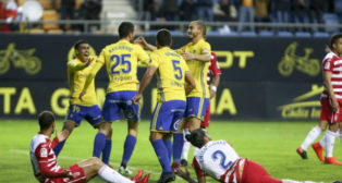 Kecojevic marcó el gol de la victoria del Cádiz CF ante el Granada.