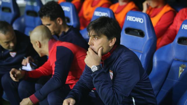 Montella debutó como entrenador del Sevilla FC en el Ramón de Carranza.