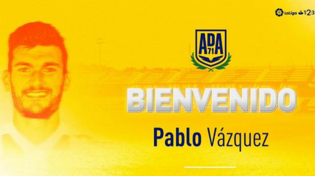 Pablo Vázquez, nuevo jugador del Alcorcón.