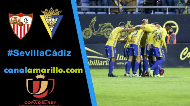 El Cádiz, ante la proeza de eliminar al Sevilla