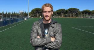 Álex Fernández, centrocampista del Cádiz CF.