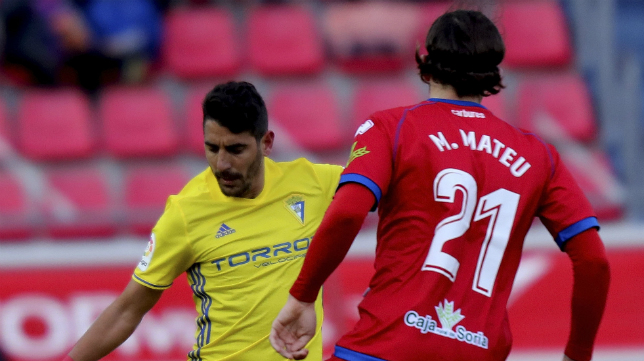Marc Mateu en una cita ante el Cádiz CF la temporada pasada.