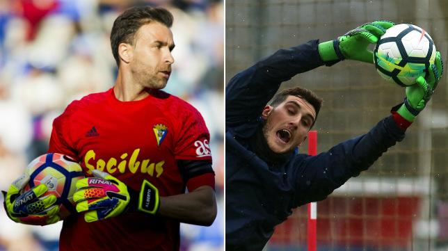 Cifuentes y Sergio Herrera, porteros de Cádiz CF y Osasuna.