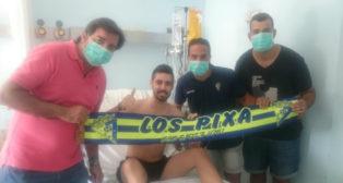Daniel García, durante su estancia en el hospital. Foto: FPC.