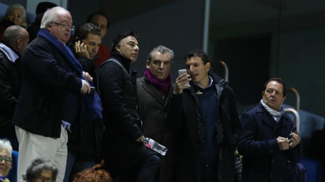 El día en que aparecieron por primera vez por Carranza los responsables de 'Locos por el Balón', antes de comprar el Cádiz, el 9 de octubre de 2013.