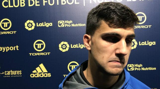 Pomares, jugador del Lorca. (Foto: Lorca FC).