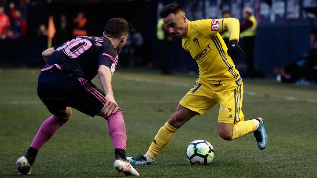 Álvaro García jugó este sábado en Pamplona.