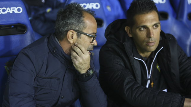 Álvaro Cervera y Roberto Perera, durante un partido.