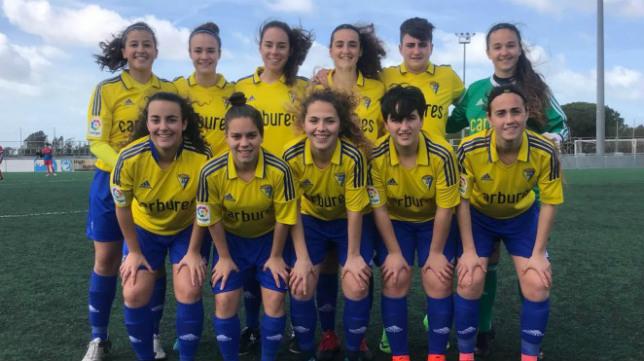 Las chicas del Cádiz CF Femenino.