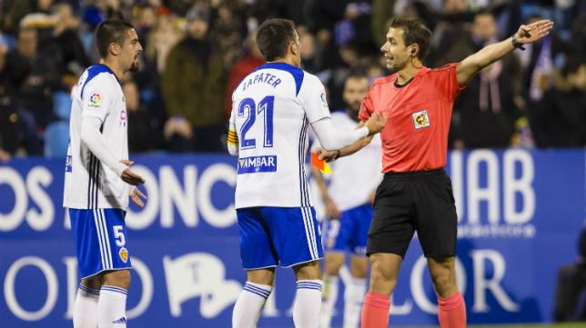 Cordero Vega arbitró al Cádiz CF La Romareda.
