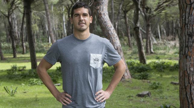 Garrido, después de un entrenamiento en El Rosal.
