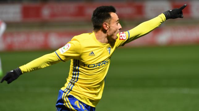 Álvaro García celebra uno de sus goles.