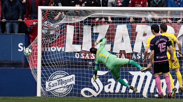 Cifuentes no pudo evitar el gol de Fran Mérida.