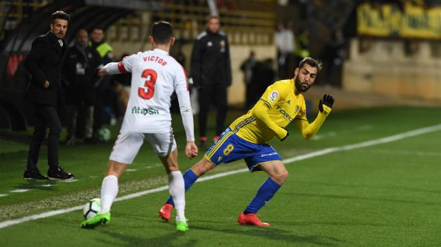 Alberto Perea jugó un buen encuentro en León.