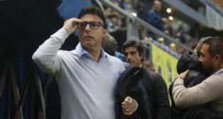 Quique Pina, en un partido del Cádiz CF.