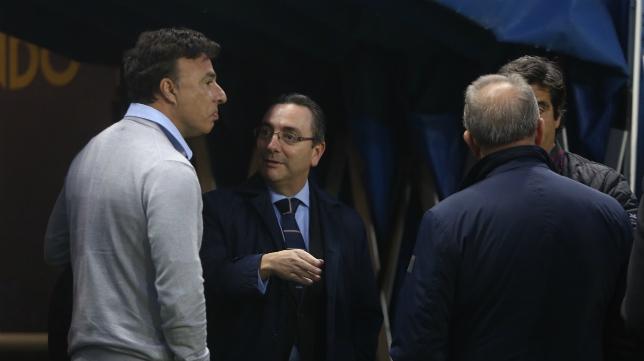 Quique Pina, justo antes del encuentro entre Cádiz CF y Sevilla Atlético.