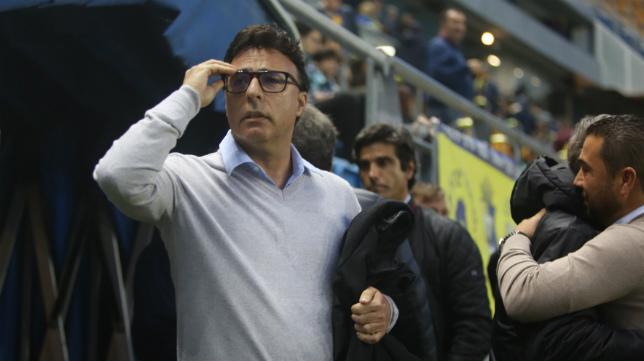Quique Pina ya vio al Cádiz CF ante el Sevilla Atlético hace dos semanas.