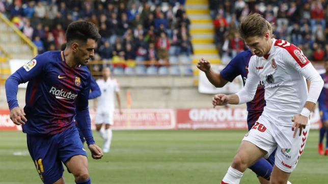 Señé frente al Barça B. Foto: Diario de León.
