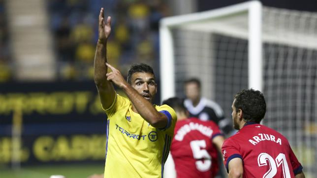 Barral, en un partido.