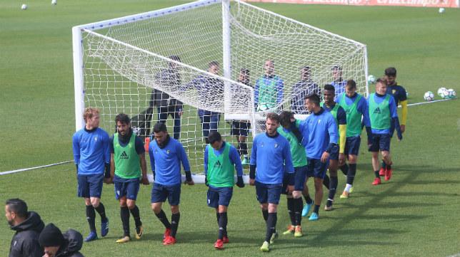 El Cádiz CF durante un entrenamiento