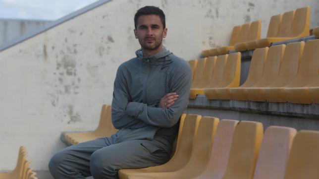 Kecojevic, durante la entrevista de CANAL AMARILLO en El Rosal. Foto: Antonio Vázquez.