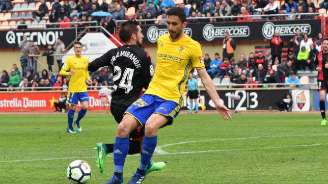 Kecojevic en el partido ante el Reus