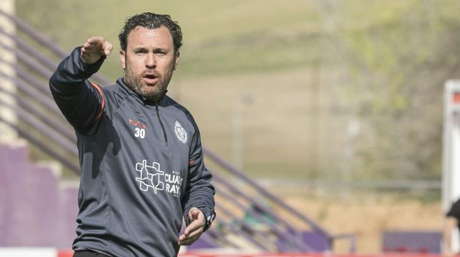 El entrenador del Valladolid, Sergio González.