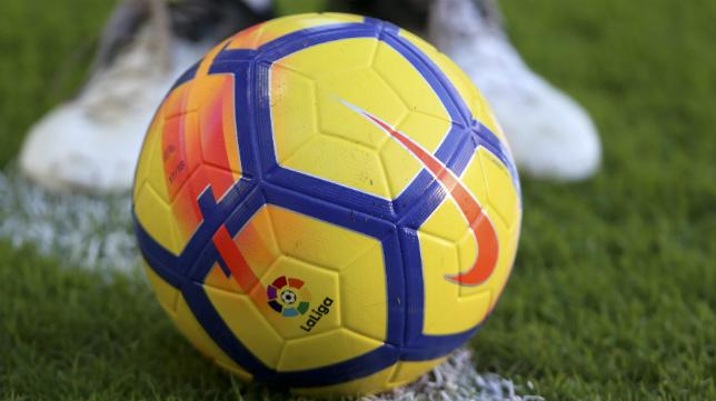El balón de la Liga de fútbol profesional.