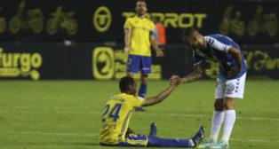 Abdullah se lamenta a la conclusión del Cádiz CF-Tenerife.