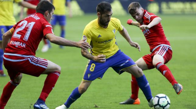 Perea en una jugada ante el Zaragoza