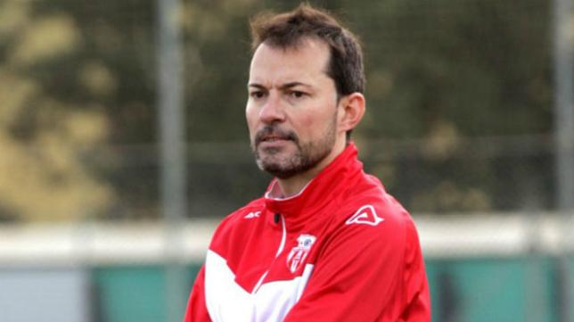 El entrenador del CD Teruel, Dani Aso.