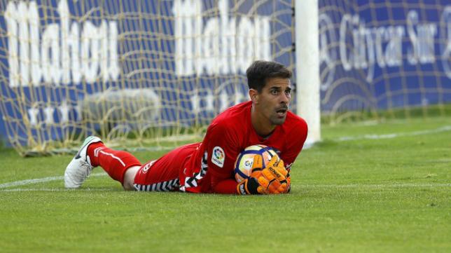Dani Hernández, guardameta del CD Tenerife.