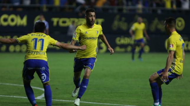 Perea en el partido ante el Tenerife