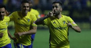 Perea marcó el gol del Cádiz CF ante el CD Tenerife.