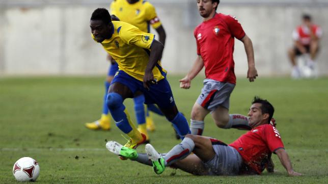 Sipo durante su breve estancia en el Cádiz CF.