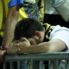 Los aficionados, tras la decepción de Granada.