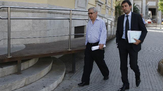 Antonio Muñoz llegando a los juzgados en una imagen de archivo.
