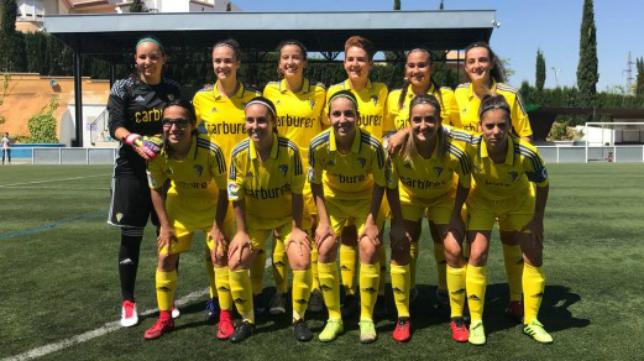 El Cádiz CF Femenino. Foto: Cádiz CF.