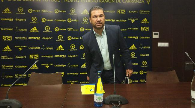 Juan Carlos Cordero en rueda de prensa