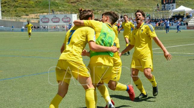 Manu Sánchez marcó el gol del empate del Cádiz CF B en Ejea de los Caballeros. Foto: Cádiz CF.