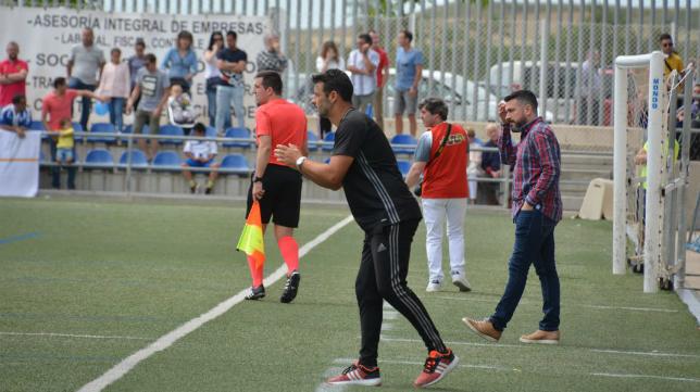 Mere, durante el encuentro en Ejea de los Caballeros. Foto: Cádiz CF.