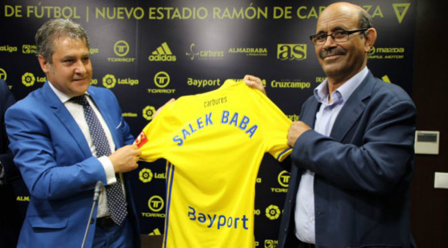 Pepe Mata y el gobernador de Wilaya Salek Baba