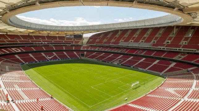 El estadio Wanda Metropolitano del Atlético.