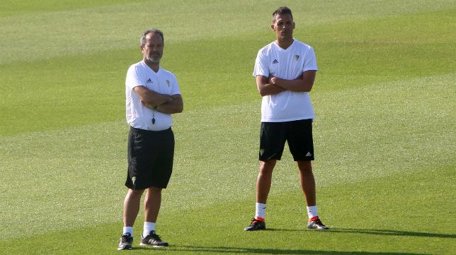 Álvaro Cervera en un entrenamiento.