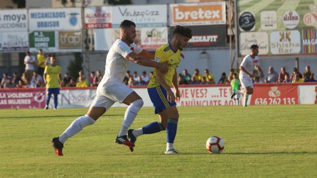 David Toro tuvo minutos con el Cádiz CF durante la pretemporada.