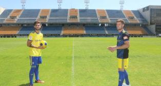 Eneko Jauregi y Mario Barco en su presentación como jugadores del Cádiz CF